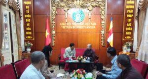Hà Nội: Đại sứ MyanMar thăm GHPGVN