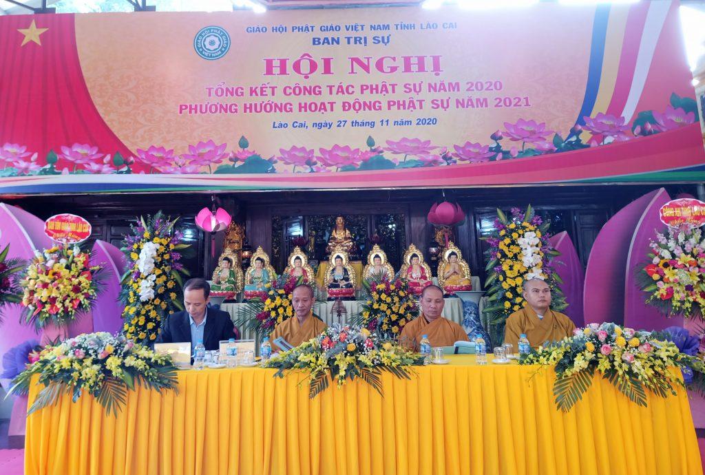 Lào Cai: Hội nghị tổng kết công tác Phật sự 2020 và phương hướng hoạt động 2021